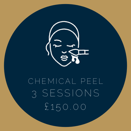 CHEMICAL PEEL 3 SESSIONS £150.00